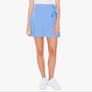 American Apparel Periwinkle Wrap Skirt